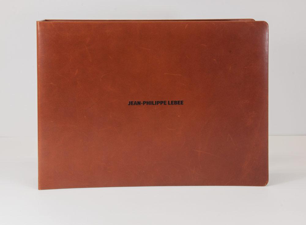 Portfolio plein cuir lisse / Cartons mousse