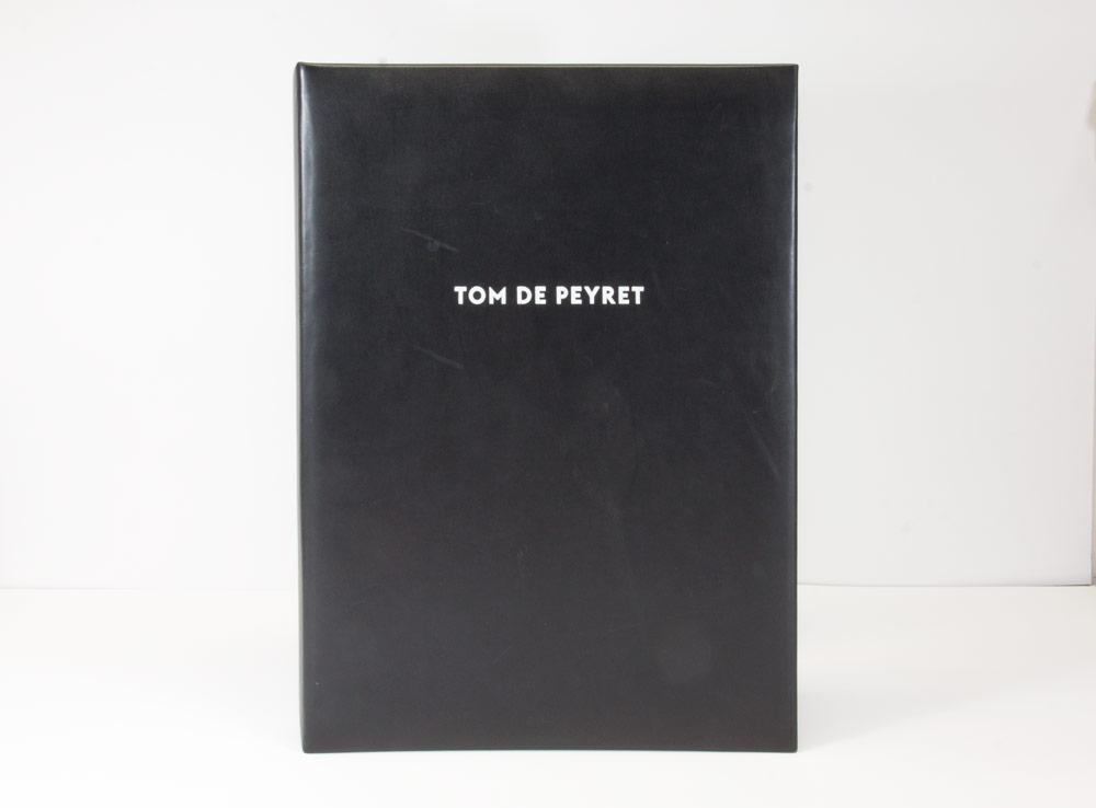 Book plein cuir / Marquage blanc